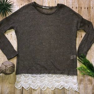Anthropologie   Entro Knit BoHo Lace Sweater